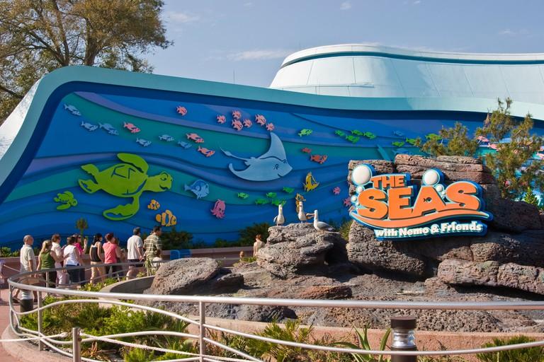 The Seas with Nemo and Friends attraction. Epcot Center, Orlando, Florida, USA