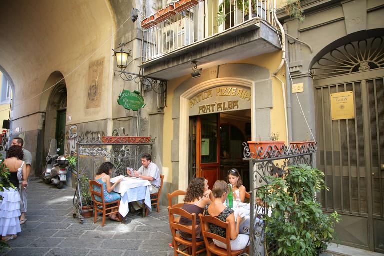 Antica Pizzeria Port Alba Naples Italy. Image shot 2008. Exact date unknown.