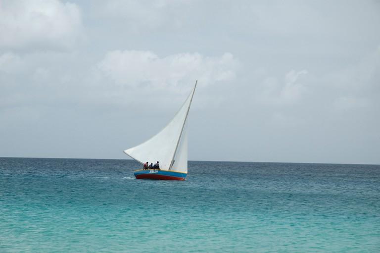 Sail boat racing in Anguilla, British Virgin Islands
