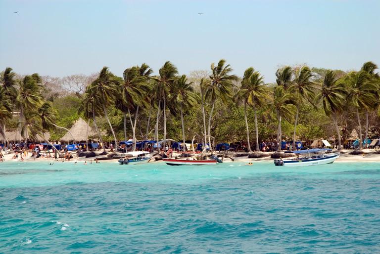 Playa Blanca on the Isla de Baru, Cartagena de Indias, Colombia