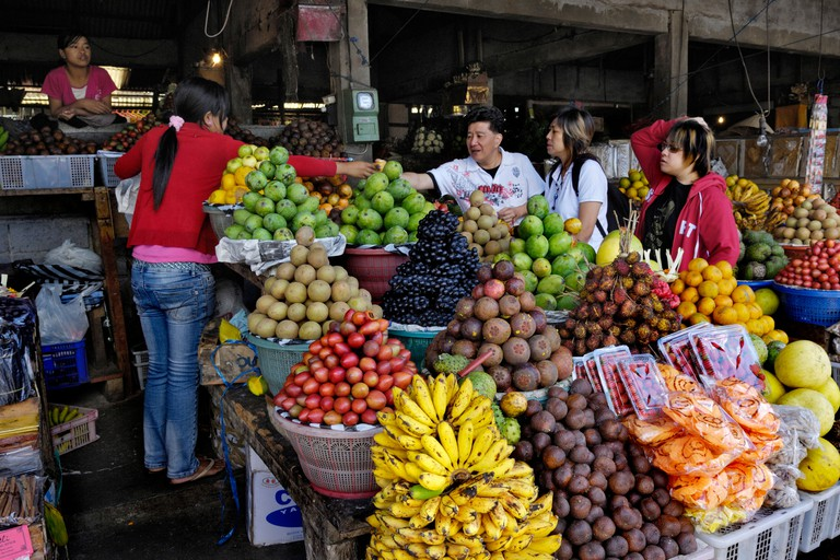 B60E1C Fruit and vegetable market in Bedugul, Bali, Indonesia