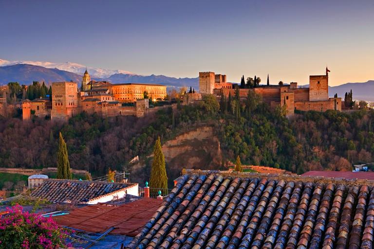 The Alhambra (La Alhambra) a moorish citadel and palace designated a UNESCO World Heritage Site in 1984.