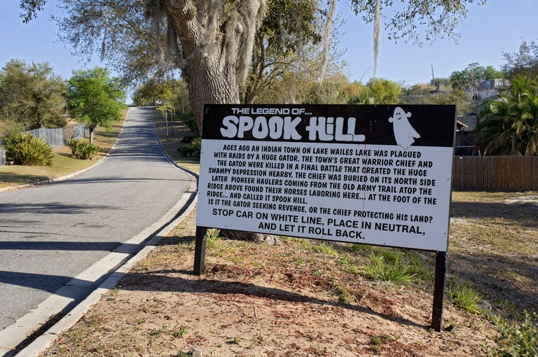 The Legend of Spook Hill Lake Wales Florida. Image shot 2009. Exact date unknown.
