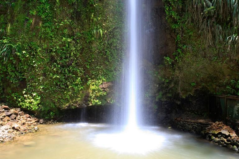 Caribbean, St Lucia, Toraille Waterfall