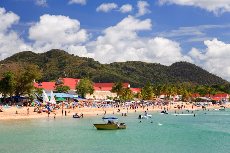 Caribbean, St Lucia, Rodney Bay, Reduit Beach