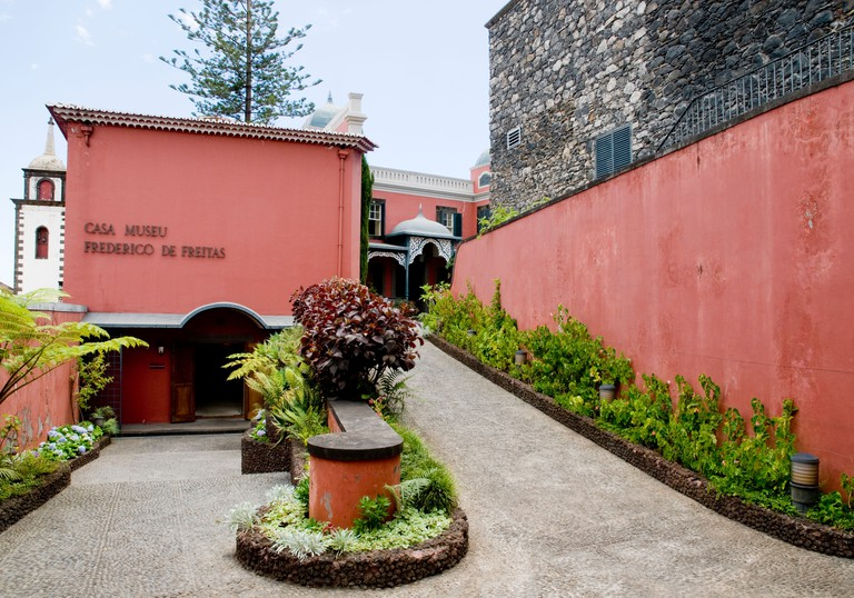 The entrance to Casa Museu Frederico de Freitas in Funchal on the island of Madeira.. Image shot 2010. Exact date unknown.