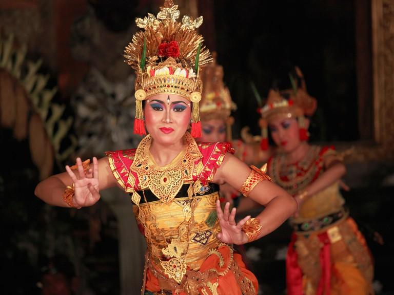 BTFX69 Indonesia, Bali, Ubud, classical dancer, Ramayana ballet performance