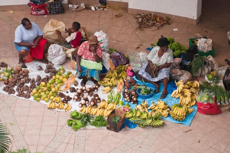 BX99TX Kingstown market, St. Vincent & The Grenadines