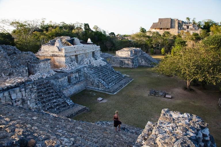 Pre-Columbian Maya archaeological site Ek' Balam near Temozon in Yucatan