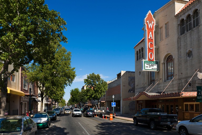 Austin Avenue in historic downtown Waco, Texas, USA