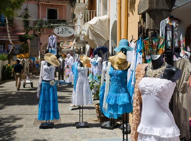 Positano shop, Positano, Amalfi coast, Salerno, Campania, Italy, Europe