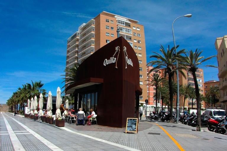 Spain Andalusia Cadiz Quilla modern design bar restaurant