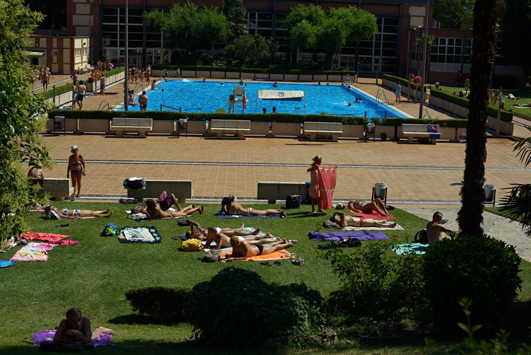 casa del campo swimming pool madrid spain