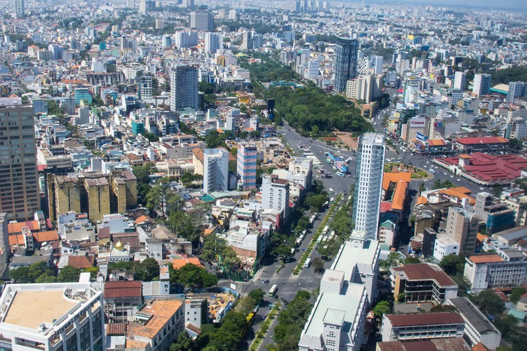 View over Ho Chi Minh City from the Saigon Skydeck in Vietnam