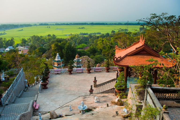 Temple at Sam Mountain, Mekong Delta, Vietnam, Indochina, Southeast Asia, Asia