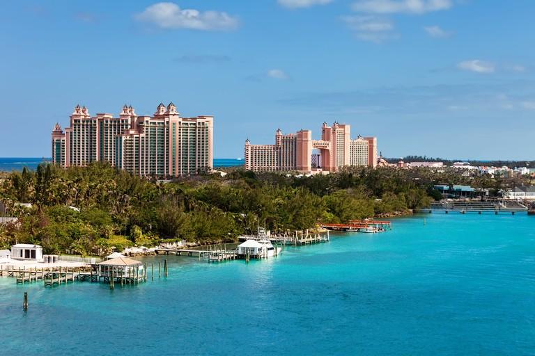 View of Paradise Island in Nassau, Bahamas