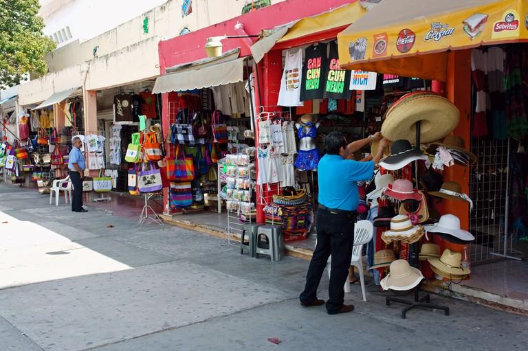 Mercado Ki huic handicrafts market on Avenida Tulum in downtown, Cancun, Quintana Roo, Mexico