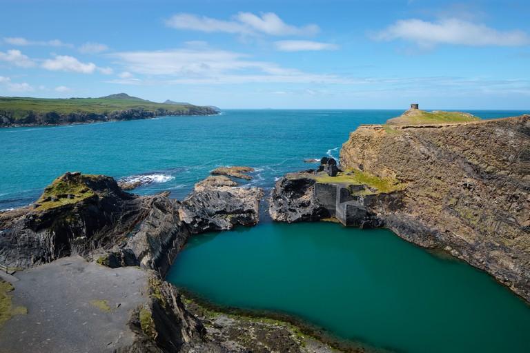 Blue Lagoon, Abereiddy, St Davids, Pembrokeshire, Wales