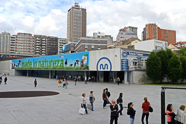Trindade subway station Porto Portugal