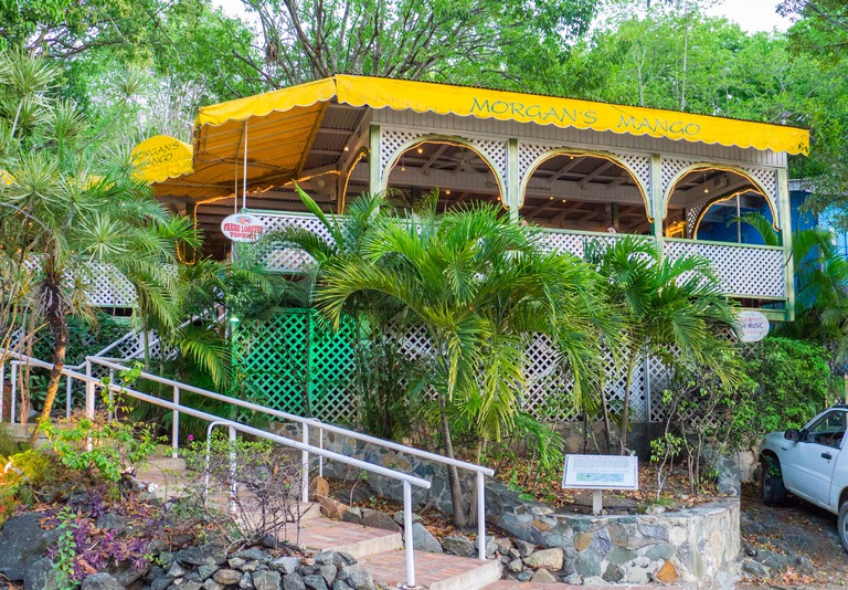 Morgan's Mango restaurant in Cruz Bay on the Caribbean Island of St John in the US Virgin Islands