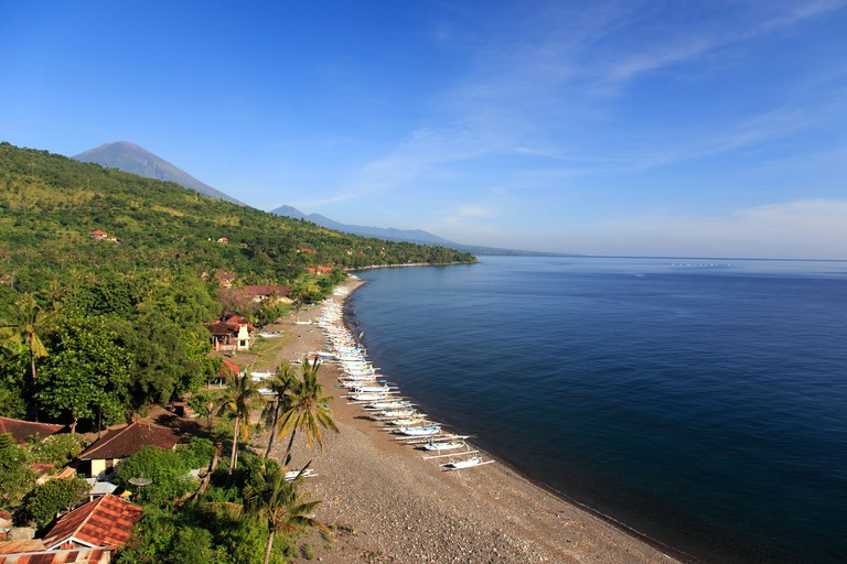 Indonesia, Bali, East Bali, Amed, Lipah Village and Beach