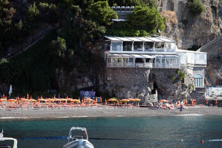 Amalfi coastline between Amalfi and Positano via Praiano, Laurito, Arienzo, San Michele, Furore and Smeraldo. Image shot 2013. Exact date unknown.
