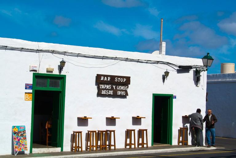 Bar on the main road, Yaiza, Lanzarote, Canary Islands, Spain, Europe