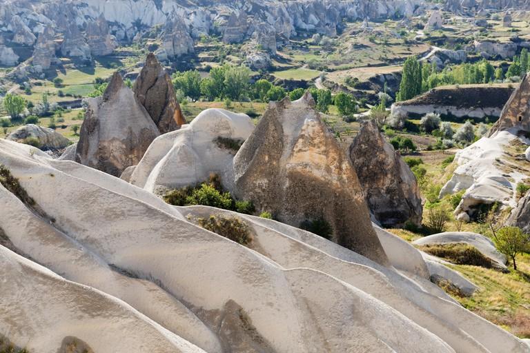 Tufa formations in Zemi Valley, Cappadocia
