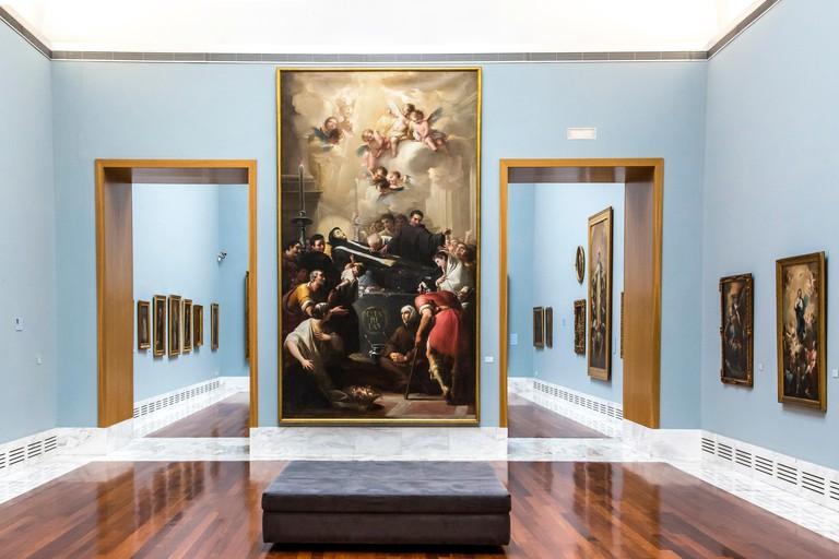 E697K7 Museum rooms in the Museo de Bellas Artes de Valencia, Valencia, Province of Valencia, Spain