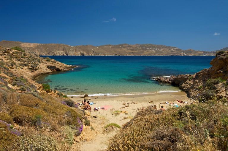 Bay of Panormos, Agios Sostis, Mykonos, Cyclades, Greece