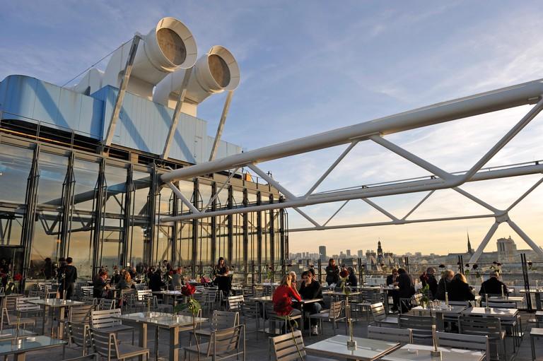 4th arrondissement 6th architecture art Art museum beaubourg capital center Centre Georges Pompidou cnac color image culture