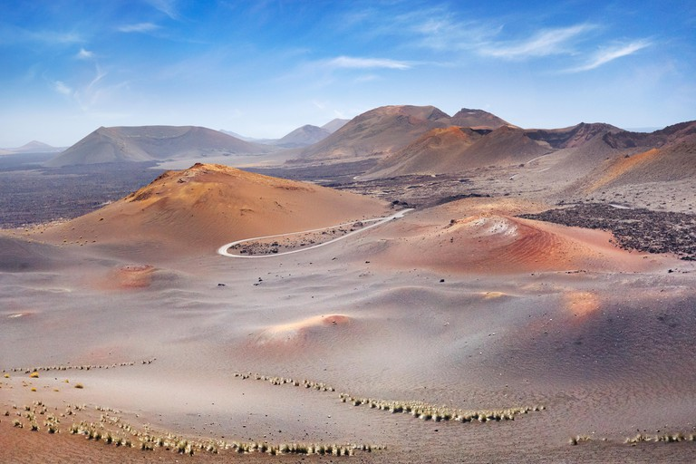 Timanfaya National Park landscape, Lanzarote Island, Canary Islands, Spain