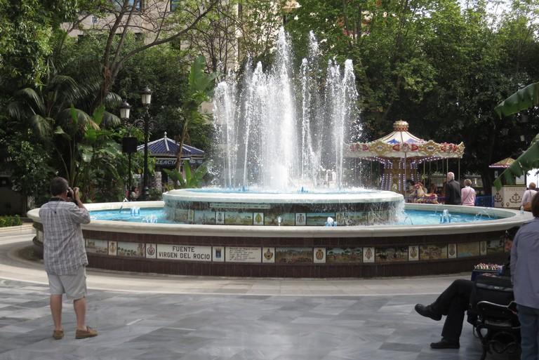 fountain in Alameda Park Marbella, Andalucia Spain