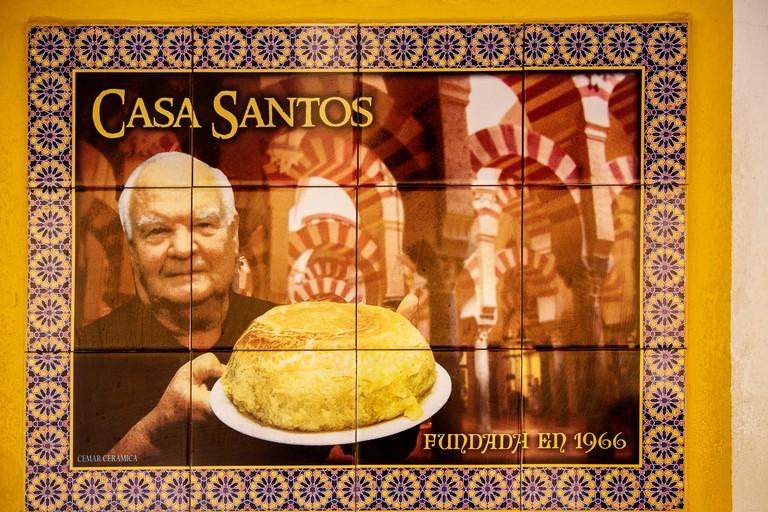 Potato omelette in Bar Casa Santos. Cordoba City Andalusia, Spain, Europe