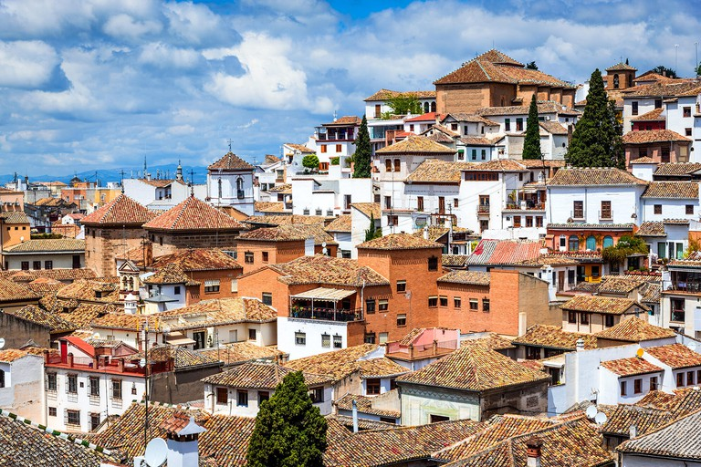 Granada, Spain - Albaicin Moorish medieval quarter, traditional arabic architecture of Andalusia