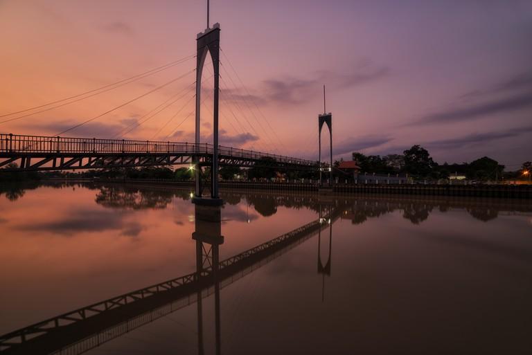 Sunset Bridge, Kota Tinggi, Malaysia