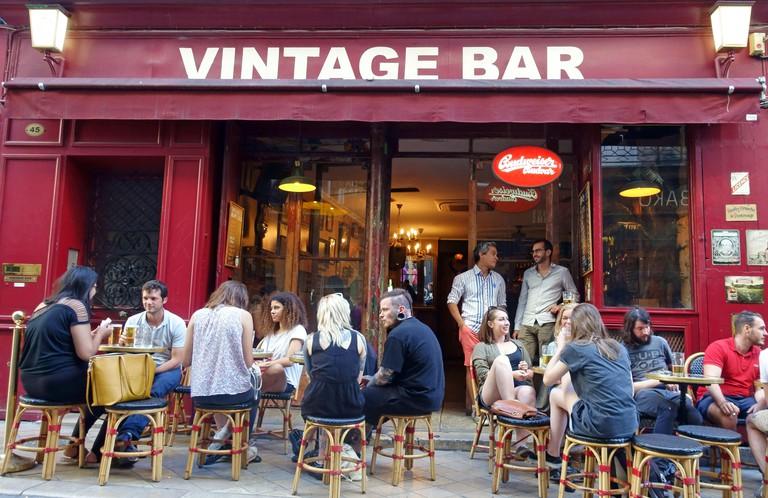 Vintage Bar in central Bordeaux, France