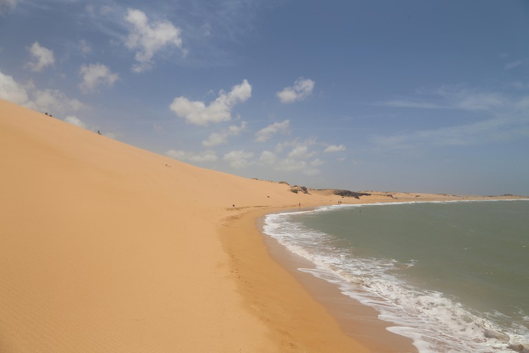 Sand dune beach, Playa Taroa, in Punta Gallinas, the northern most point in Colombia and South America.