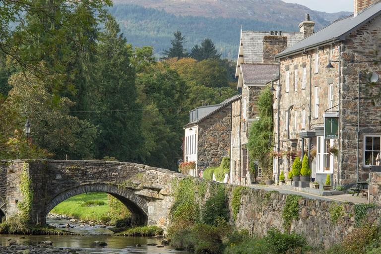 The attractive village of Beddgelert, Snowdonia National Park, North Wales, UK