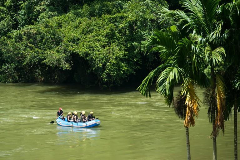 White water rafting on the Kelani River, Kitugala, Sri Lanka