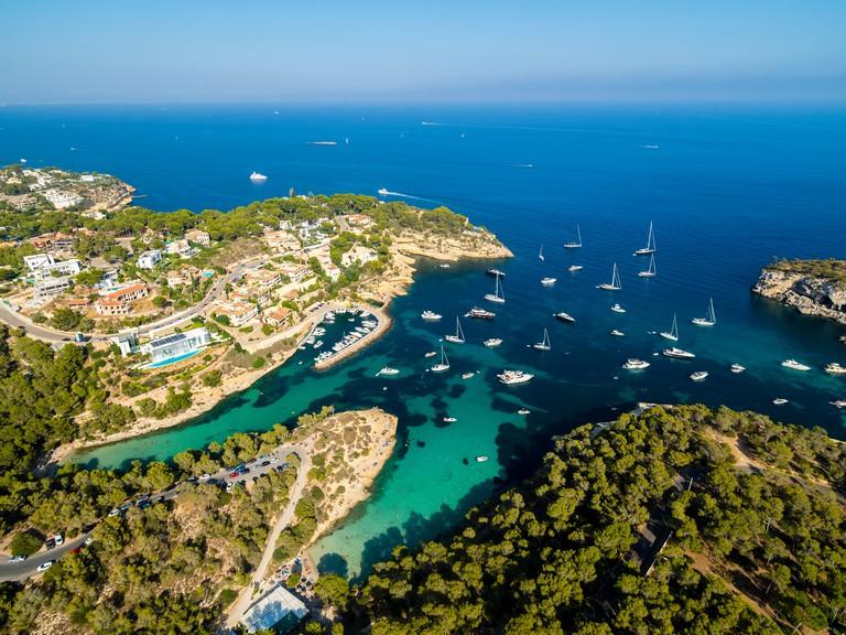 Spain, Balearic Islands, Mallorca, El Toro, Villas near Portals Vells