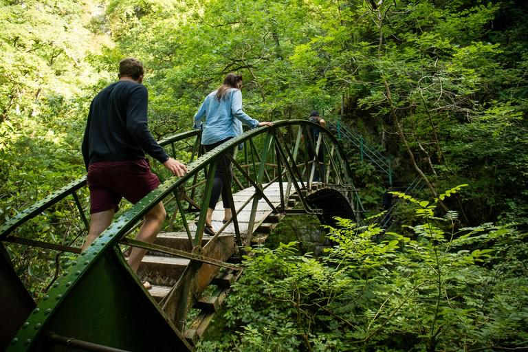 Tourism in Wales: Devil's Bridge, Ceredigion, Wales, UK