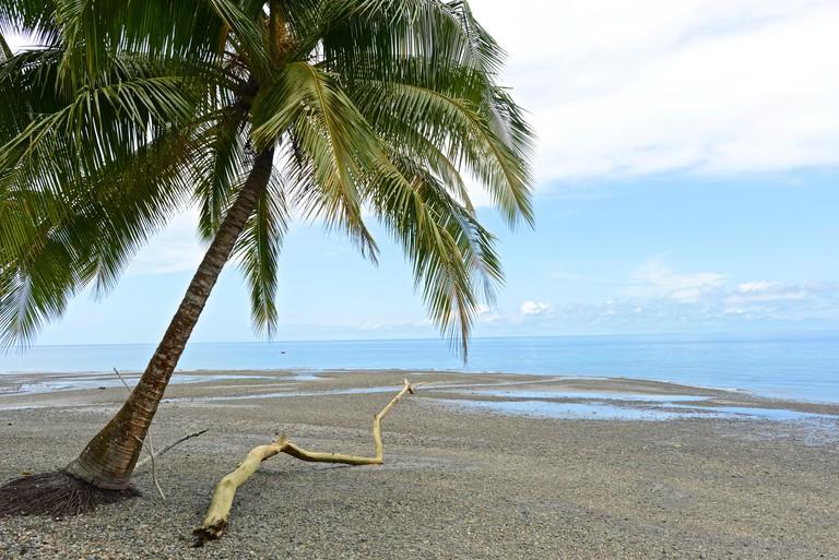 Scenic view of Gorgona Island in Colombia.