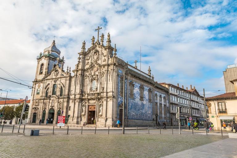 Igreja do carmo church in Porto Portugal
