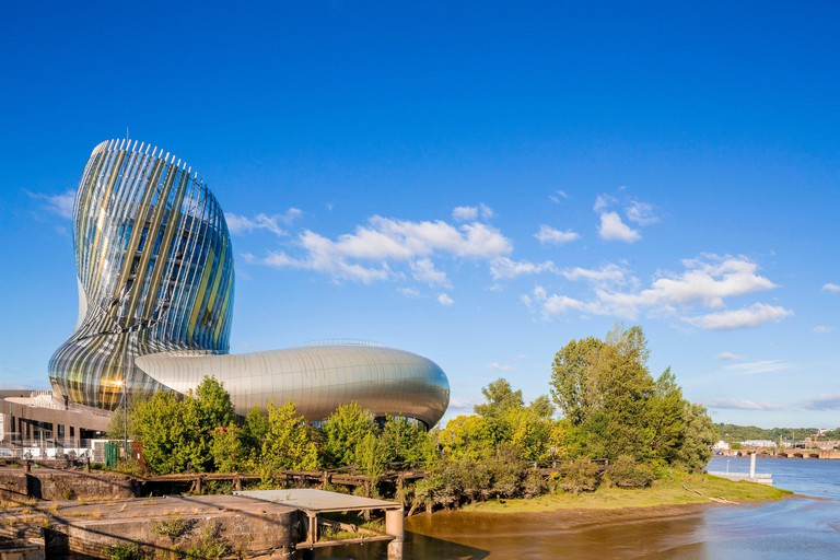 France, Gironde, Bordeaux, Bacalan district, Cite du Vin, an exhibition place on the theme of wine designed by XTU and opened in 2016