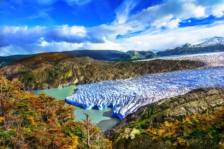 Grey Glacier,Patagonia, Chile - a glacier in the Southern Patagonian Ice Field, Cordillera del Paine