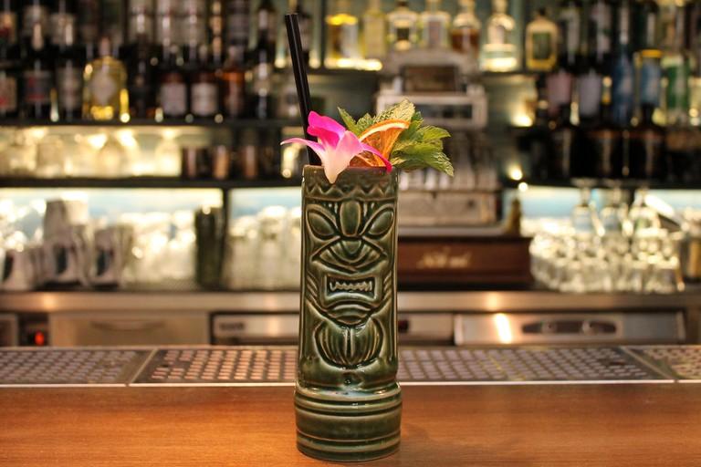 Cocktail in Tiki glass