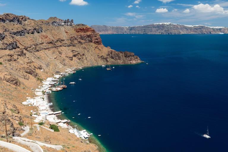 Aegean sea from Manolas village on Therasia island, Greece