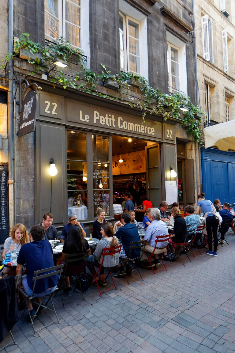 France, Gironde, Bordeaux, area listed as World Heritage by UNESCO, Le Petit Commerce