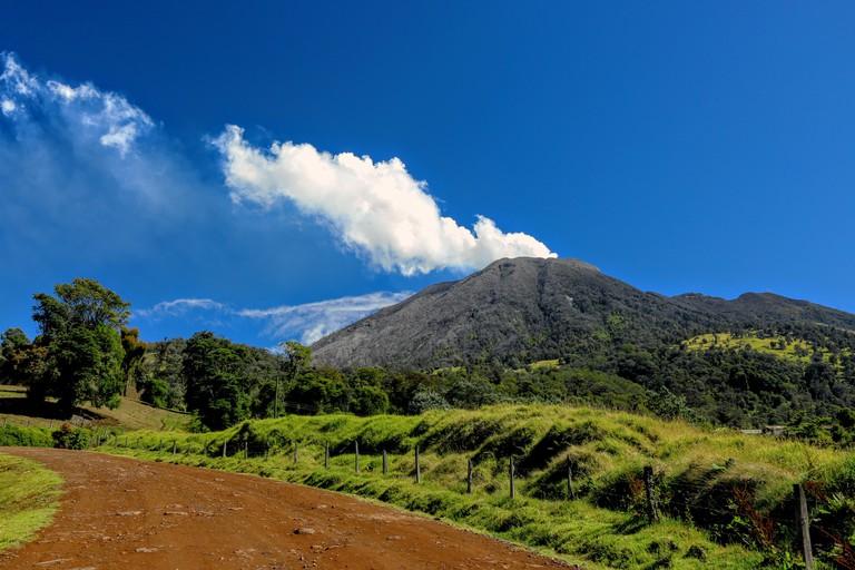 K71AH5 Turrialba active volcano Costa Rica
